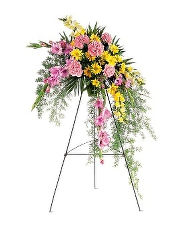 Pastel Crescent Spray Flower Arrangement