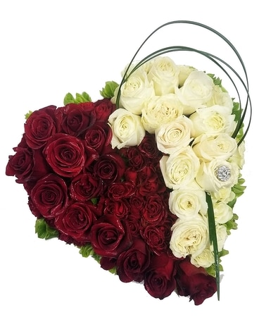 Love, Roses & Diamonds Flower Arrangement