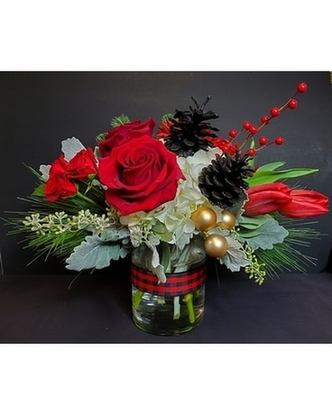 Heritage Plaid Flower Arrangement
