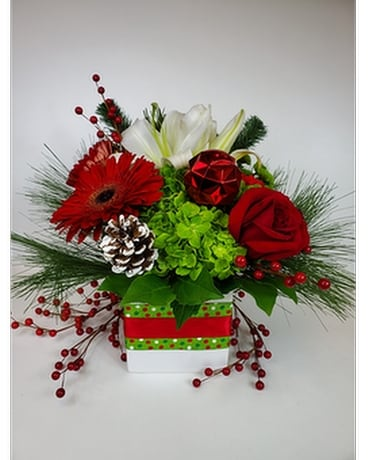 Jingle All The Way Flower Arrangement