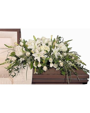 Touch of Sympathy Funeral Casket Spray Flowers