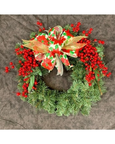 Permanent Silk Christmas Wreath Wreath