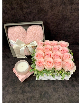 Blush Pave' Flower Arrangement