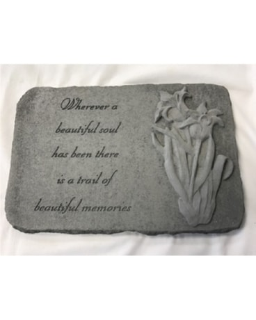 Memory Stone - With Flower - Beautiful Soul - MS18
