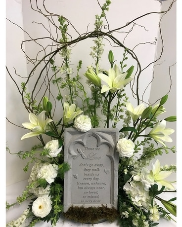 Memory Stone with Arrangement - SFD-312 - $145.00 Flower Arrangement