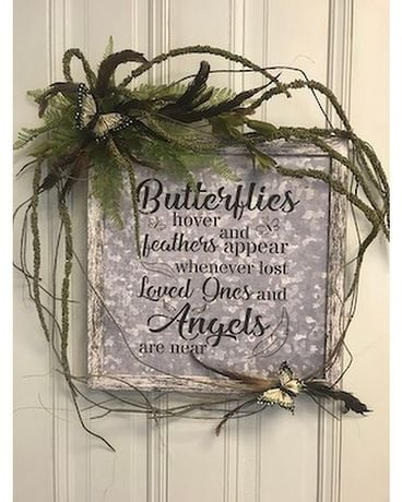 Butterfly & Feather Plaque