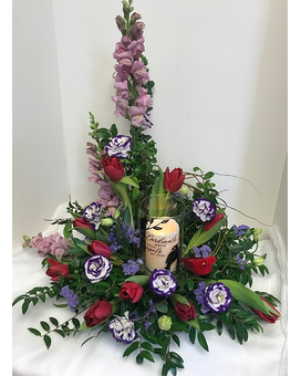 Cardinal Sympathy Flower Arrangement