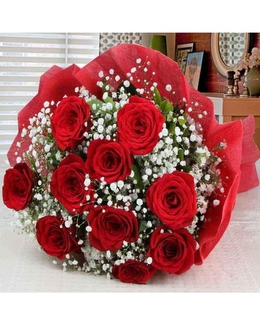 DOZEN PREMIUM RED ROSES WRAPPED BOUQUET Bouquet