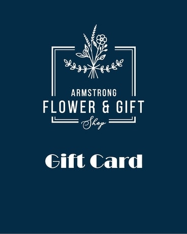 Gift Card Flower Arrangement