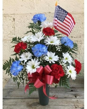 Patriotic Memorial Special Flower Arrangement