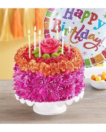 Cool Flower Cake Birthday Wishes In Casper Wy Keefes Flowers Funny Birthday Cards Online Hetedamsfinfo