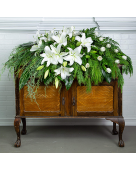 Timeless Memories Casket Spray Sympathy Arrangement