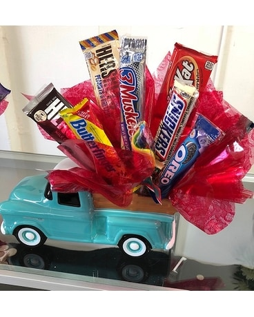 Snack Truck Flower Arrangement