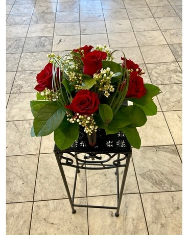 Red Ruby Flower Arrangement