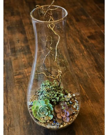 Chimney Terrarium Flower Arrangement