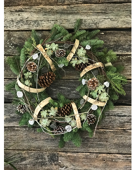 Woodsy Succulent Wreath Wreath