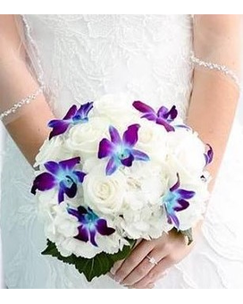 Blissful Blue Bom Bouquet Bouquet