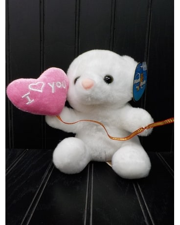 White Bear with Pink Balloon Gifts