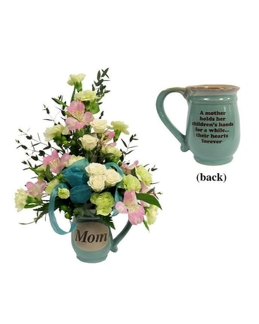 Mom Mug Flower Arrangement