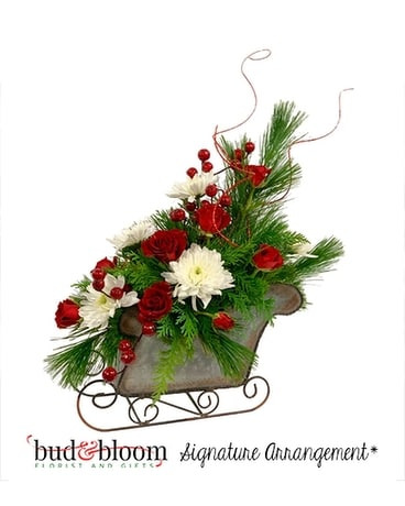 Sleigh Ride Flower Arrangement