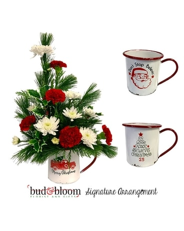 Holiday Mug Flower Arrangement