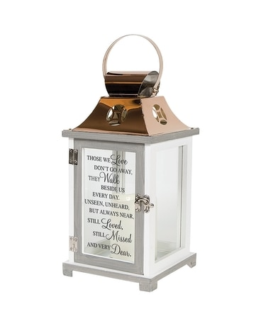 Walk Beside Us Memorial Lantern Gifts