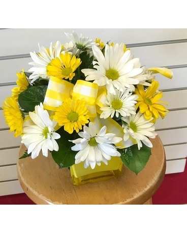SPRING YELLOW DAISIES Flower Arrangement