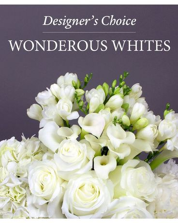 Designer's Choice - Wonderous Whites Flower Arrangement