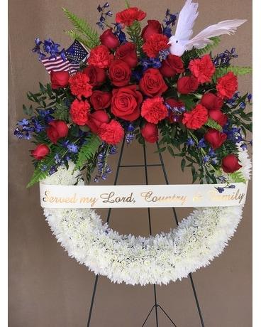 Patriotic Wreath Funeral Arrangement ...