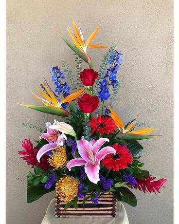 Quick view Exotic Grace Flower Arrangement. New Flower Arrangement by Bonita Flowers & Gifts