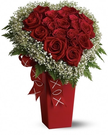 Heart and Soul - Deluxe - Roses Flower Arrangement