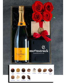 Champagne & Chocolate Flower Arrangement