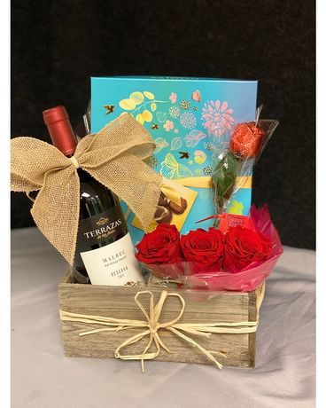 Father's Day Gift Basket with Red Wine Gift Basket