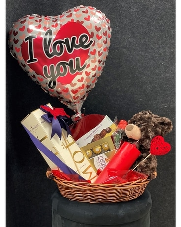 Love's Gift Basket with Champagne Gift Basket