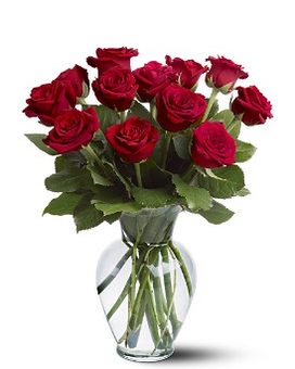 12 RD Roses Flower Arrangement