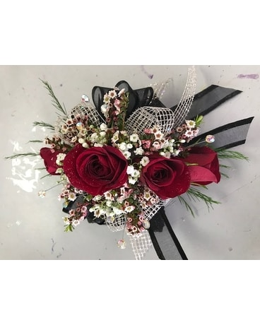 Dreaming Red Corsage Flower Arrangement