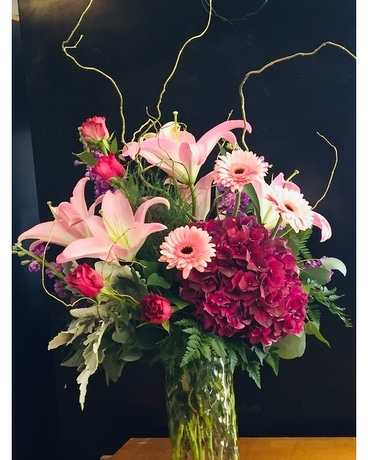Pink N Mauve Flower Arrangement