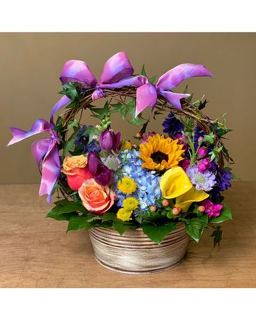 Tisket-a-Tasket Easter Basket Flower Arrangement