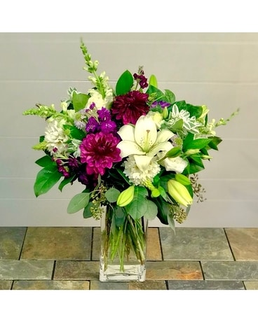 Passionate Purple Flower Arrangement