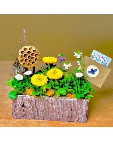 Bee Garden Basket Arrangement