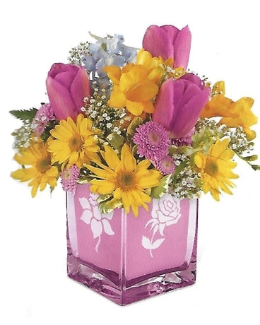 Burst of Spring Flower Arrangement