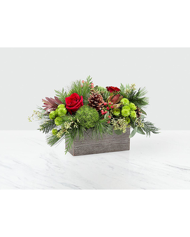 Christmas Cabin Flower Arrangement