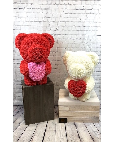 Bear Of Love Flower Arrangement