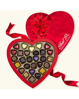 Large Heart Box of Chocolate Flower Arrangement