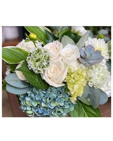 PRETTY IN BLUE AND WHITE Flower Arrangement