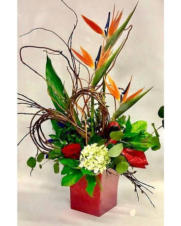 Red rapture Flower Arrangement