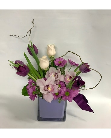 Posh Purple Flower Arrangement