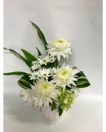 White on White Flower Arrangement