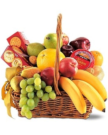 Classic Fruit Basket Basket Arrangement