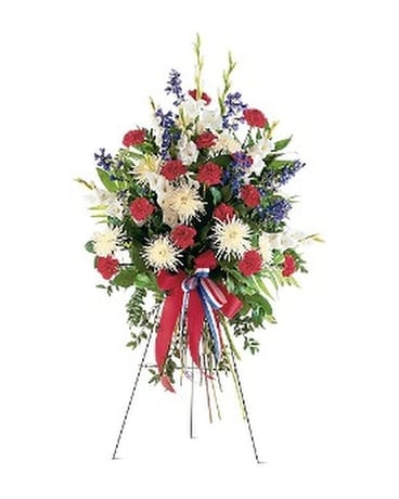 Patriotic Spirit Spray Flower Arrangement